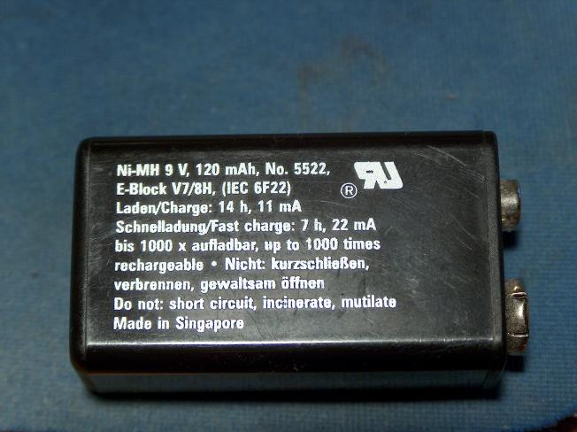 Charge Rate for a 9 Volt Battery