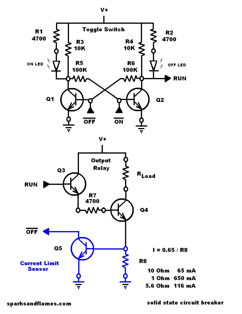 Circuit Breaker Schematic Reinvent Your Wiring Diagram Electronic Schematics Symbols Circuits Solid State 20v 650ma Rh Sparksandflames Com Electrical Manual Pdf
