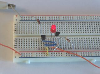 9V Battery Constant Current Charger on Breadboard